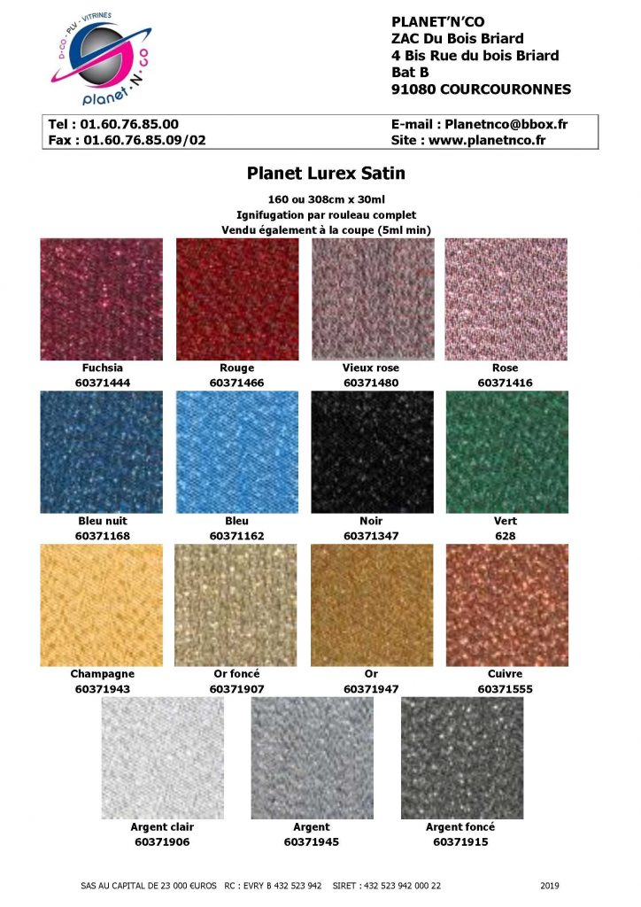Planet Lurex Satin
